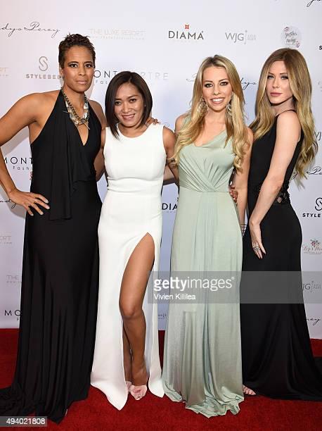 TV personality Daphne Wayans and fashion designer Pia Gladys Perey sportscaster Lindsay McCormick and singer Kristine Elezaj attend the Pia Gladys...