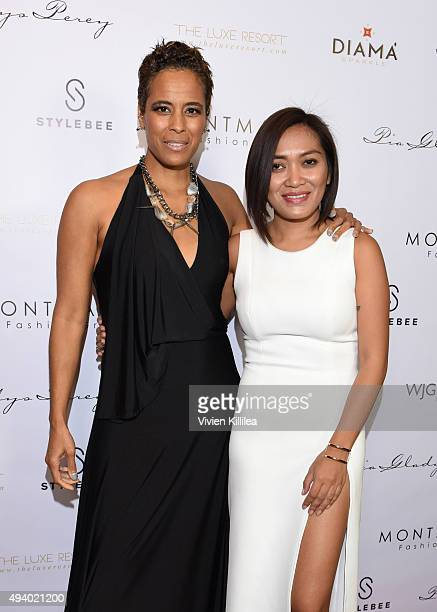 TV personality Daphne Wayans and fashion designer Pia Gladys Perey attend the Pia Gladys Perey Spring/Summer 2016 Fashion Show at Sofitel Hotel on...