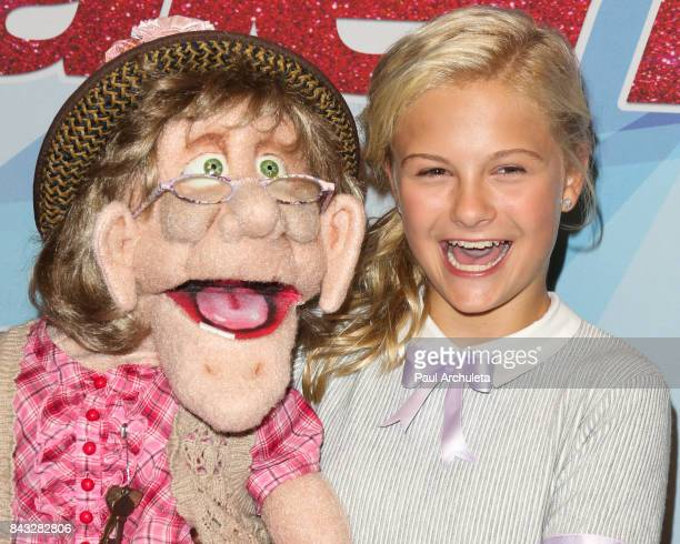 Personality Darci Lynne attends the NBC's 'America's Got Talent' season 12 live show at Dolby Theatre on September 5 2017 in Hollywood California
