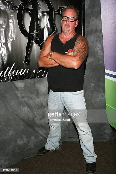 TV personality Darrell Sheets attends the Storage Wars Stars Jarrod Schulz And Brandi Passante Store Opening on October 8 2011 in Orange California