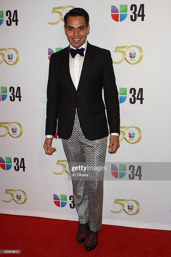 TV Personality David Gonzalez attends KMEX Univision 34 50th