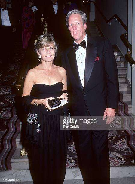 TV personality David Hartman and wife Maureen Downey attend Barbara Walters and Merv Adelson's Four Month Wedding Anniversary Celebration on...