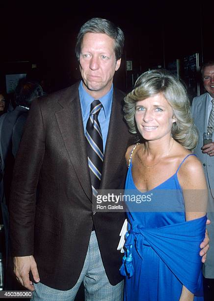 TV personality David Hartman and wife Maureen Downey attend the Eighth Annual RFK ProCelebrity Tennis Tournament PreParty on August 24 1979 at the...