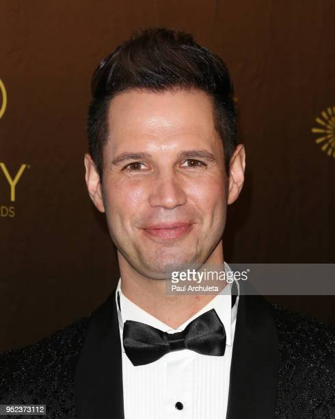 Personality David Osmond attends the press room at the 45th Annual Daytime Creative Arts Emmy Awards at the Pasadena Civic Auditorium on April 27...