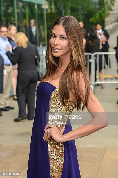 TV personality Dayana Mendoza enters the 2013 CFDA Fashion Awards on June 3 2013 in New York United States