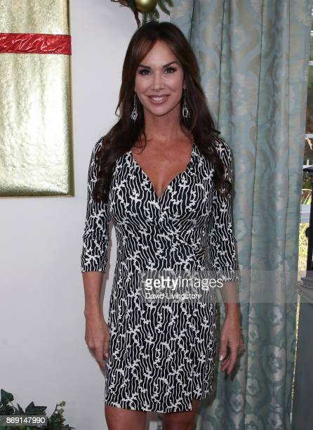 TV personality Debbe Dunning visits Hallmark's 'Home Family' at Universal Studios Hollywood on November 1 2017 in Universal City California