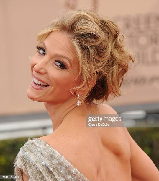 TV personality Debbie Matenopoulos arrives at the 22nd Annual Screen Actors Guild Awards at The Shrine Auditorium on January 30 2016 in Los Angeles...