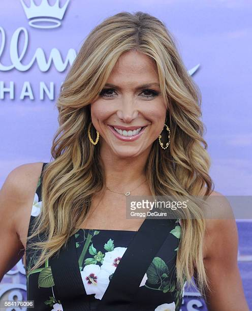 TV personality Debbie Matenopoulos arrives at the Hallmark Channel and Hallmark Movies and Mysteries Summer 2016 TCA Press Tour Event on July 27 2016...