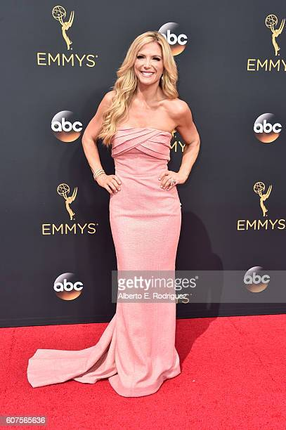 TV personality Debbie Matenopoulos attends the 68th Annual Primetime Emmy Awards at Microsoft Theater on September 18 2016 in Los Angeles California