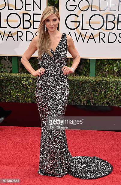 TV personality Debbie Matenopoulos attends the 73rd Annual Golden Globe Awards held at the Beverly Hilton Hotel on January 10 2016 in Beverly Hills...