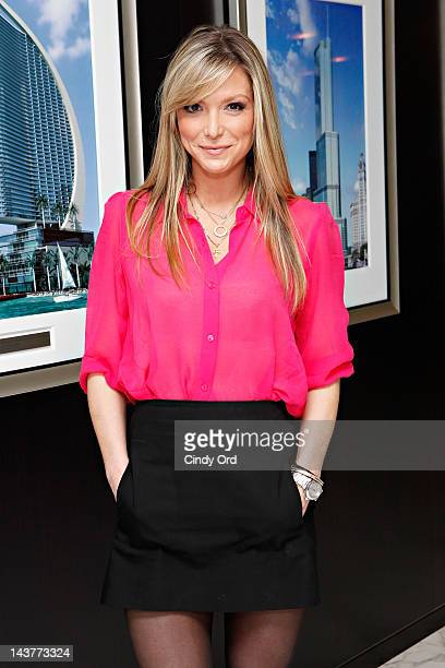 Personality Debbie Matenopoulos poses at Trump Tower on May 3, 2012 in New York City.