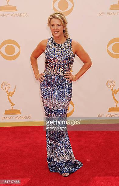 Personality Deborah Norville arrives at the 65th Annual Primetime Emmy Awards at Nokia Theatre L.A. Live on September 22, 2013 in Los Angeles,...