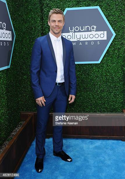 TV personality Derek Hough attends the 2014 Young Hollywood Awards brought to you by Samsung Galaxy at The Wiltern on July 27 2014 in Los Angeles...