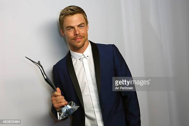 Personality Derek Hough attends the 2014 Young Hollywood Awards brought to you by Samsung Galaxy at The Wiltern on July 27 2014 in Los Angeles...