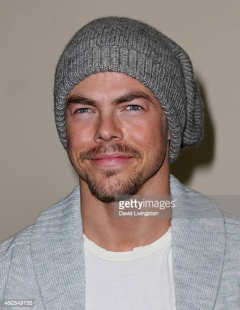 TV personality Derek Hough attends The Grove's 11th Annual Christmas Tree Lighting Spectacular at The Grove on November 17 2013 in Los Angeles...