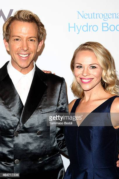 Personality Derek Warburton and blogger Julie Solomon attend the Neutrogena Hydro Boost + MyHabit With OK!TV Oscars Viewing Party on February 22,...