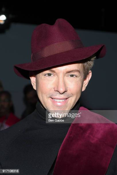TV personality Derek Warburton attends the Carmen Marc Valvo fashion show during New York Fashion Week on February 11 2018 in New York City