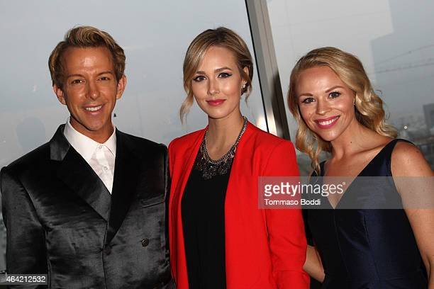 Personality Derek Warburton, bloggers Sheridan Gregory and Julie Solomon attend the Neutrogena Hydro Boost + MyHabit With OK!TV Oscars Viewing Party...