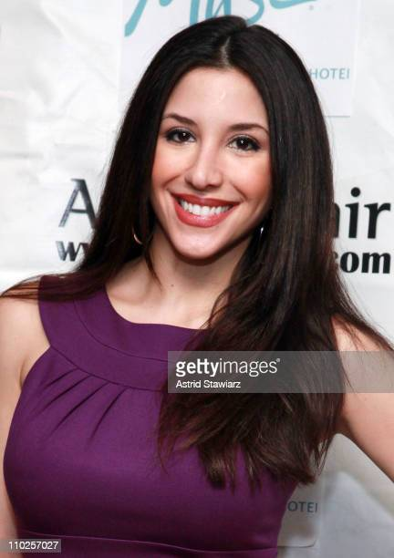 TV personality Diana Falzone attends St Pawtricks Yappy Hour benefiting the Humane Society of New York at the Muse Hotel on March 16 2011 in New York...