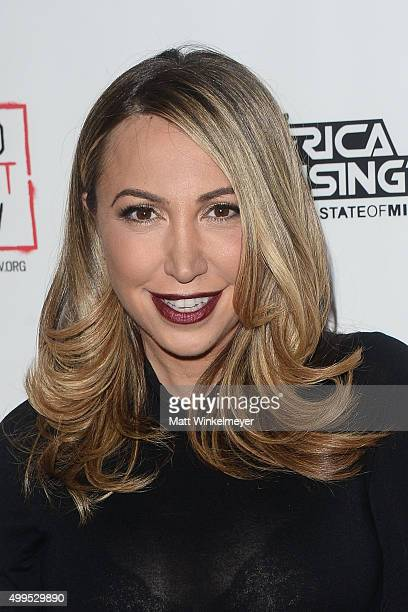 Personality Diana Madison arrives at the Inaugural World AIDS Day Benefit at Sofitel Hotel on December 1 2015 in Los Angeles California