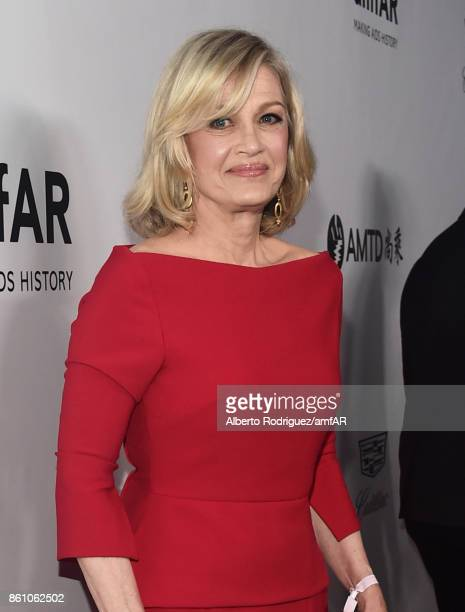 TV personality Diane Sawyer attends the amfAR Gala Los Angeles 2017 at Ron Burkle's Green Acres Estate on October 13 2017 in Beverly Hills California