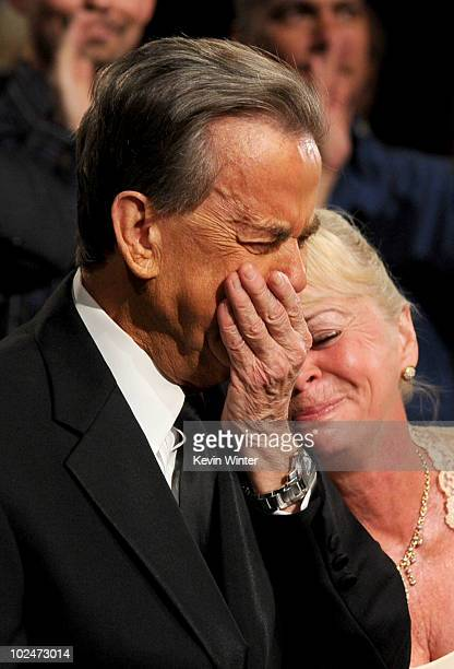 TV personality Dick Clark and wife Kari Clark during the 37th Annual Daytime Entertainment Emmy Awards held at the Las Vegas Hilton on June 27 2010...