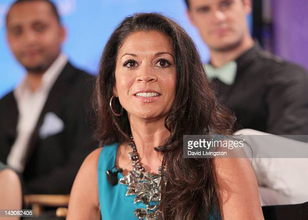 Personality Dina Eastwood attends the NBCUniversal summer press day held at The Langham Huntington Hotel and Spa on April 18 2012 in Pasadena...