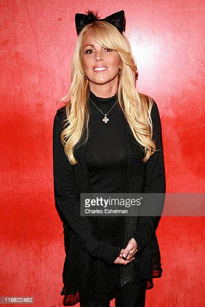 TV personality Dina Lohan attends the 8th annual Halloween pet costume party benefiting the Humane Society of New York at Mansion on October 27 2008...