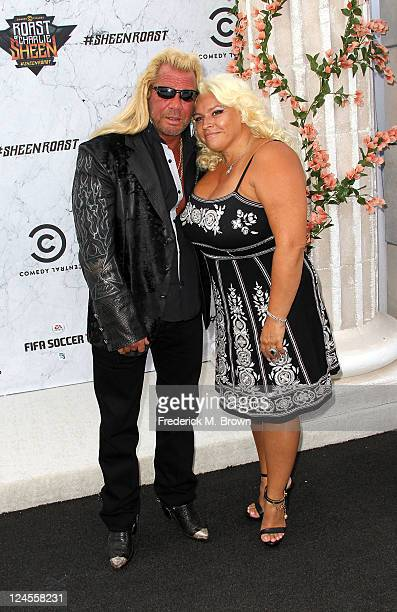 TV personality Dog the Bounty Hunter and his wife Beth Chapman arrive at Comedy Central's Roast of Charlie Sheen held at Sony Studios on September 10...