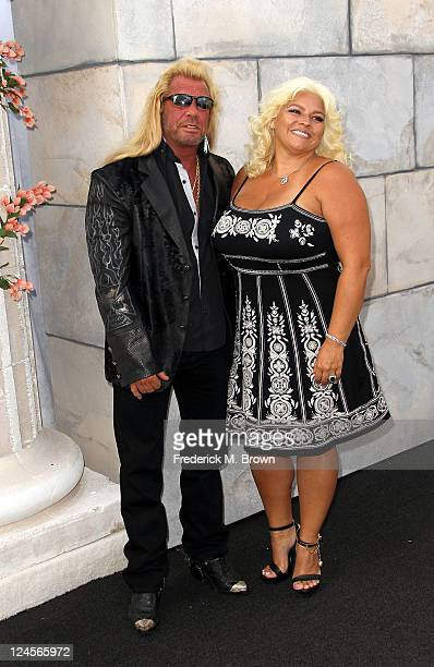 Personality Dog the Bounty Hunter and his wife Beth Chapman arrive at Comedy Central's Roast of Charlie Sheen held at Sony Studios on September 10,...