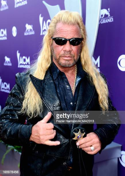 TV personality Dog the Bounty Hunter arrives at the 48th Annual Academy of Country Music Awards at the MGM Grand Garden Arena on April 7 2013 in Las...