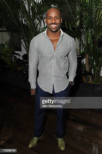 TV personality Dolvett Quince attends Jeremy Renner's and Kristoffer Winters' celebration of the launch of Robb Report Home Style on June 6 2013 in...