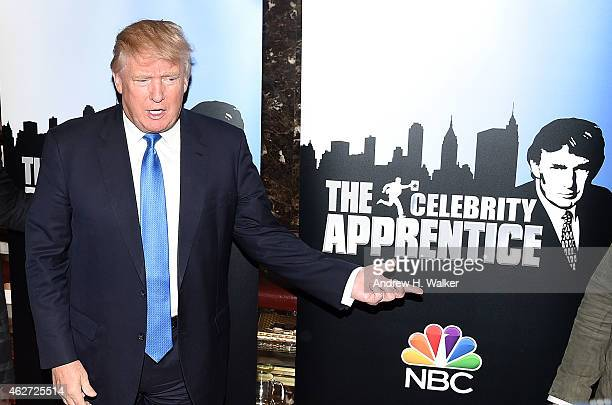 TV personality Donald Trump attends a Celebrity Apprentice red carpet event at Trump Tower on February 3 2015 in New York City