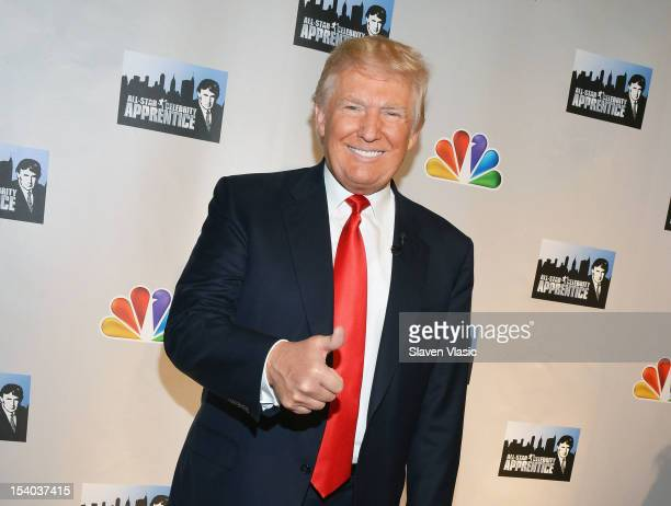 "Personality Donald Trump attends the ""Celebrity Apprentice All Stars"" Season 13 Press Conference at Jack Studios on October 12, 2012 in New York City."