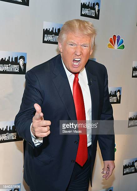 Personality Donald Trump attends the Celebrity Apprentice All Stars Season 13 Press Conference at Jack Studios on October 12 2012 in New York City