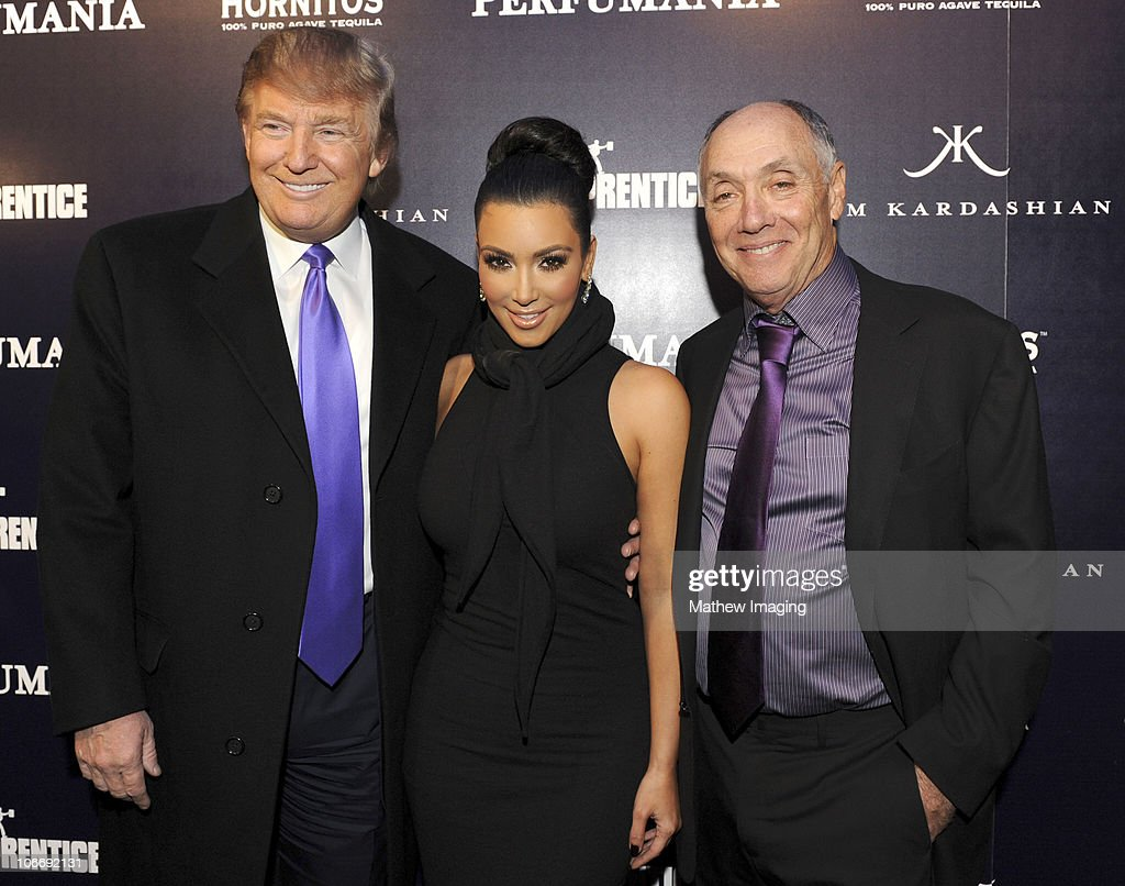 TV personality Donald Trump, Kim Kardashian and Perfumania Chairman of the Board Stephen Nussdorf attend the celebration of Perfumania and Kim Kardashian�s appearance on NBC�s 'The Apprentice' at the Provocateur at The Hotel Gansevoort on November 10, 2010 in New York, New York.