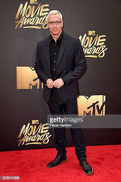TV personality Dr Drew Pinsky attends the 2016 MTV Movie Awards at Warner Bros Studios on April 9 2016 in Burbank California MTV Movie Awards airs...