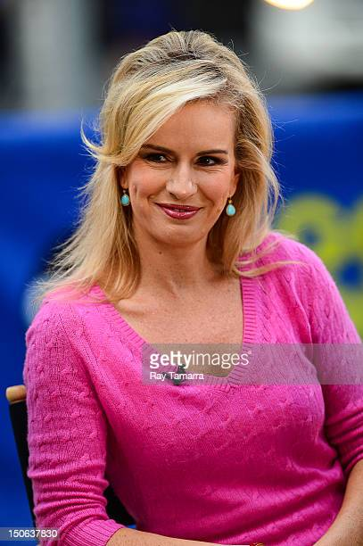 TV personality Dr Jennifer Ashton tapes an interview at Good Morning America at the ABC Times Square Studios on August 23 2012 in New York City