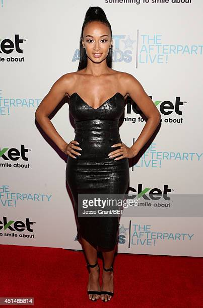 TV personality Draya Michele attends the BET AWARDS '14 post show at Nokia Theatre LA LIVE on June 29 2014 in Los Angeles California