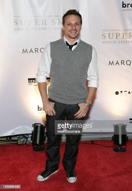 Personality Drew Lachey arrives at the Super Skins Kickoff Party hosted by Nick Lachey and Jimmie Johnson at the Hula Bay Club on January 30, 2009 in...