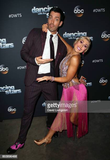 TV personality Drew Scott and dancer Emma Slater attend 'Dancing with the Stars' season 25 at CBS Televison City on September 25 2017 in Los Angeles...