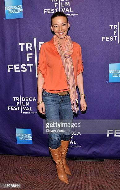 TV personality Drita D'Avanzo attends the 2011 Tribeca Film Festival Family Screening of Hoodwinked Too at Clearview Cinemas Chelsea on April 23 2011...