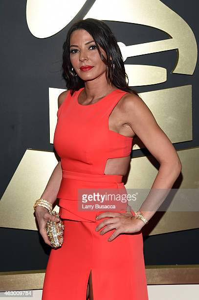 Personality Drita D'Avanzo attends The 57th Annual GRAMMY Awards at the STAPLES Center on February 8 2015 in Los Angeles California