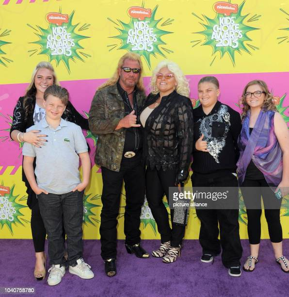 TV personality Duane Chapman aka Dog and family arrive at Nickelodeon's 26th Annual Kids' Choice Awards at USC Galen Center in Los Angeles USA on 23...