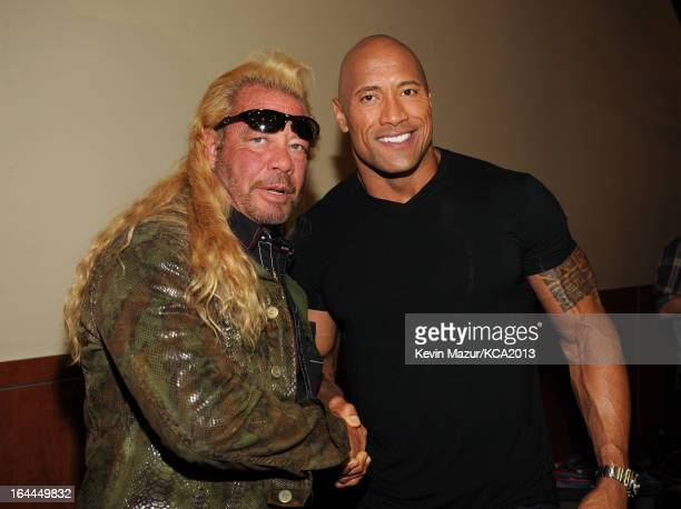 TV personality Duane 'Dog' Chapman and actor Dwayne Johnson attend Nickelodeon's 26th Annual Kids' Choice Awards at USC Galen Center on March 23 2013...