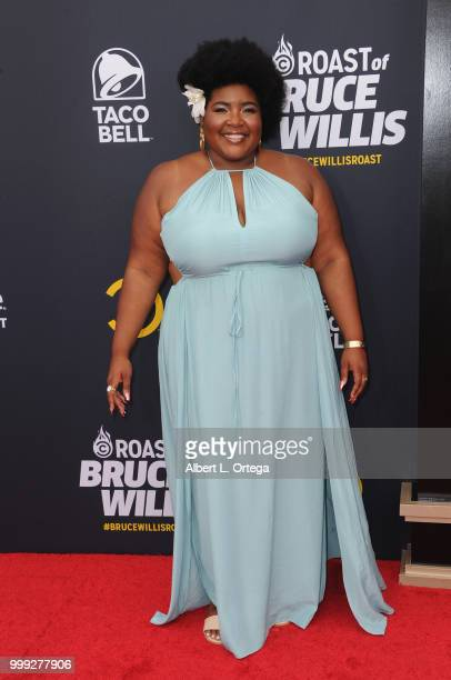 Personality Dulce Sloan arrives for the Comedy Central Roast Of Bruce Willis held at Hollywood Palladium on July 14 2018 in Los Angeles California