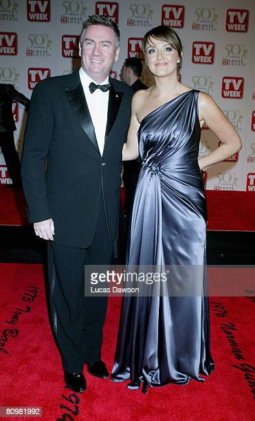 TV personality Eddie McGuire and his wife Carla arrive on the red carpet at the 50th Annual TV Week Logie Awards at the Crown Towers Hotel and Casino...