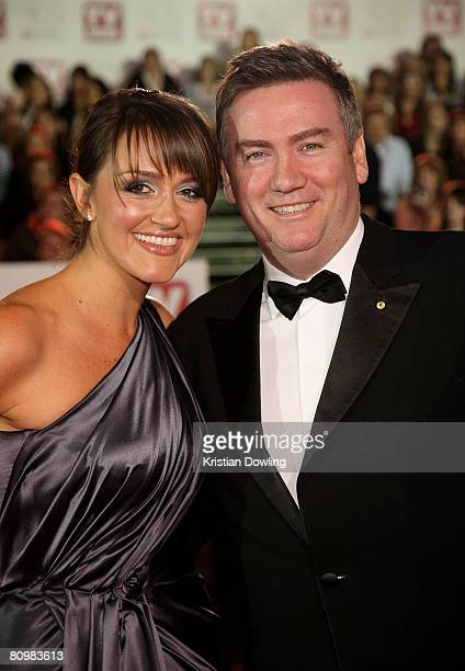TV personality Eddie McGuire and his wife Carla McGuire arrives on the red carpet at the 50th Annual TV Week Logie Awards at the Crown Towers Hotel...
