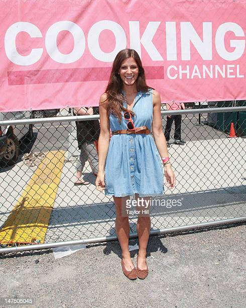 TV personality Eden Grinshpan attends Cooking Channel's 2012 Summer Eat's PopUp Tour Kick Off Event at Brooklyn Flea Smorgasburg on June 30 2012 in...