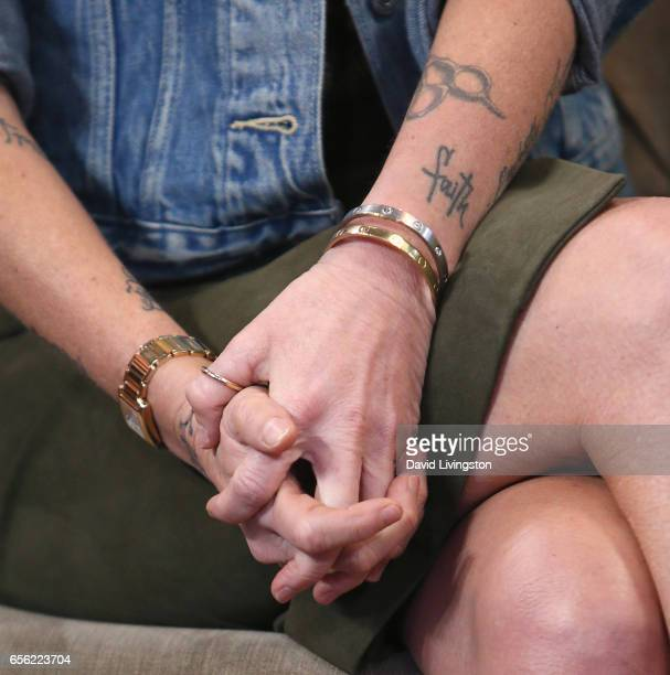 TV personality Eden Sassoon tattoo jewelry detail visits Hollywood Today Live at W Hollywood on March 21 2017 in Hollywood California